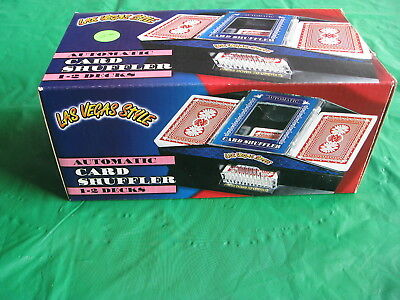 AUTOMATIC PLAYING CARD SHUFFLER for 1-2 DECKS - LAS VEGAS STYLE - NEW in BOX!