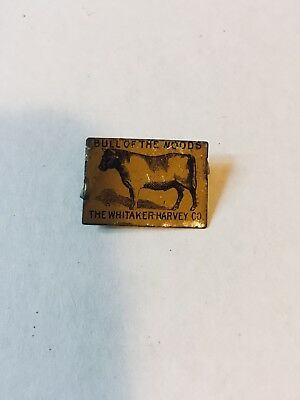 vintage Bull of The Woods tobacco tag