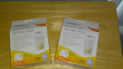 Medela Breast Milk Storage Bags 100 Count, 2 New & Sealed 50 packs