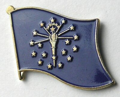 Indiana Us State Single Flag Lapel Pin Badge 1 Inch