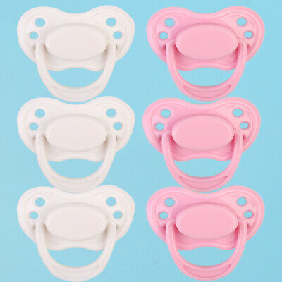 Dummy Pacifier For Reborn Baby with Internal Magnet Doll Accessories 2pcs
