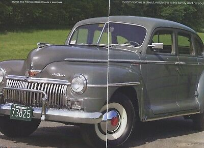 1947 DESOTO DIPLOMAT SP 6  pg Color Article PLYMOUTH