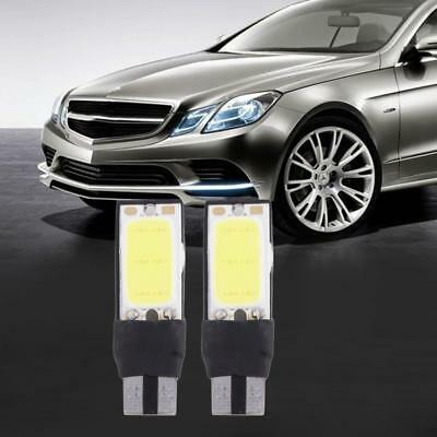 10 X Side Light T10 Car Bulbs Error Free COB Wedge Bright White W5W Lamp DC 12V