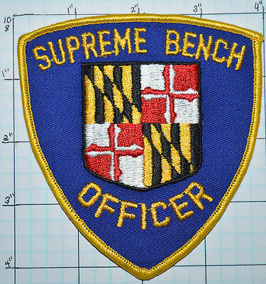 Maryland, Supreme Bench Police Officer Patch