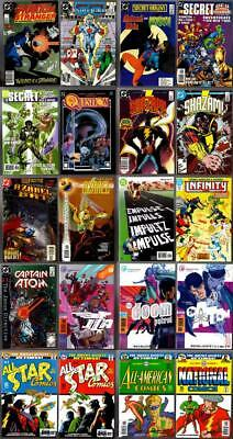 20 DC late Bronze comics and early Modern age, some signed LOOK !!!