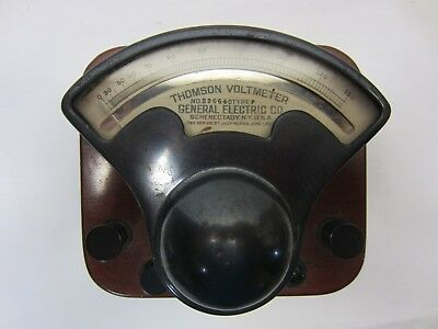 1909 General Electric Thompson Voltmeter in Dove Tailed Wood Box as pictured