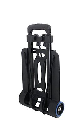 BlueJan Foldable Luggage Cart Airport Car Seat Sturdy Lightweight Rugged Wheels