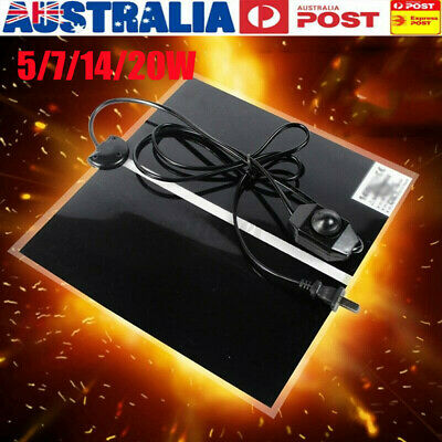 AU Pet Electric Adjustable Heat Reptile Lizard Heating Mat Warmer Blanket 0-35째C