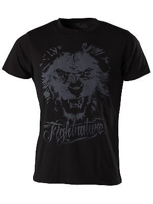 Fightnature T-Shirt Lion, Gr. S-XXL. BJJ, Muay Thai, MMA, Grappling, Boxen, usw.