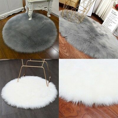 Rugs Cover Carpet Soft Artificial Sheepskin Chair Bedroom Mat Wool Warm Area