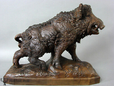 black forest  hand carved Wooden Wildboar *we have listed also others*