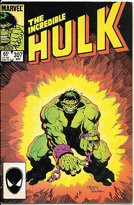 The Incredible Hulk #307 FINE  1985 Marvel  VINTAGE COMIC COMBINE SHIPPING