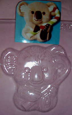 Large Koala With A Candy Cane Christmas Chocolate Mould Or Plaster Mould