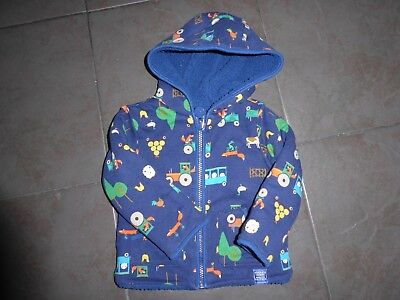 Joules baby boys fleecy jacket / coat. Age 9-12 months