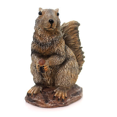 Home & Garden GRAY SQUIRREL Polyresin Nut Rodent Statue 89786