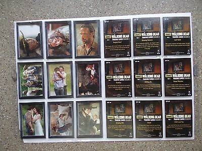 The Walking Dead season 3 part 1 full 9 card  shadow box chase   set