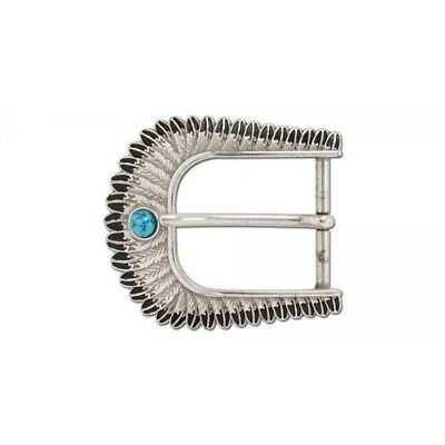 """Turquoise Feather Buckle, 1-1/2"""" (38mm)"""