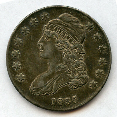 1836 U.s. Capped Bust Type Half Dollar Nice Original Toning Choice Xf-Au. Nr.