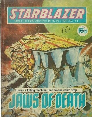 Jaws Of Death,starblazer Space Fiction Adventure In Pictures,comic,no.71