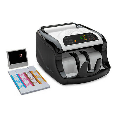 Bill Counter Money Cash Banknote Machine Count Currency W/ Counterfeit Detection