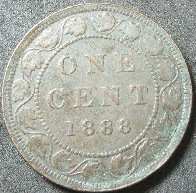 1888 Canada Large Cent Coin