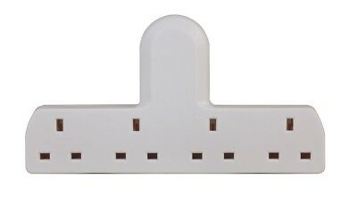 4 Way Gang Extension Multi Plug In Mains Socket Adapter British Approved 13A
