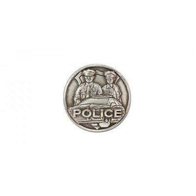 Police Concho, Antique Silver Plate (nickel Free)