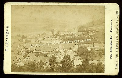 Antique CDV Photo Schmalkalden Town Germany Europe Sopnus Williams Berlin 1879