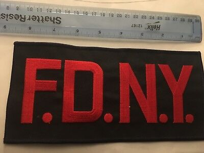 FDNY Back Patch Red