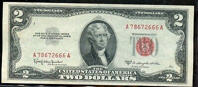 Fabulous 1953-C United States $2 Currency Note YA124