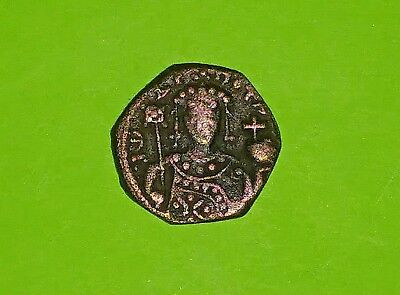 John II Comnenus 1118 AD ancient Byzantine Coin jesus christ bible cross VG good
