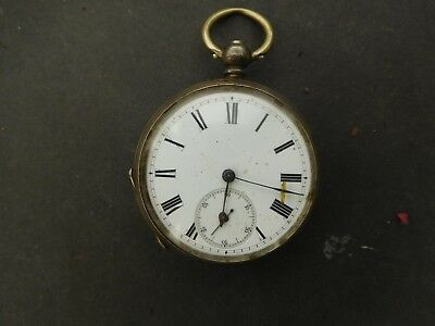Antique Silver Pocket Watch spares or repair