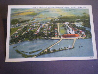 Birds-Eye-View The Spa RUSSELLS POINT amusement park 1920s