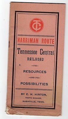1902 Tennessee Central Railroad Harriman Route, Its Resources & Possibilities