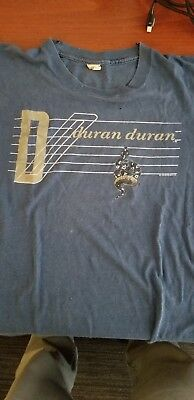 Vintage 1980s DURAN DURAN CONCERT T SHIRT 1984 Union of the Snake LARGE rare!!