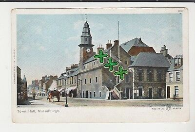 Undivided Back Postcard - Town Hall, Musselburgh