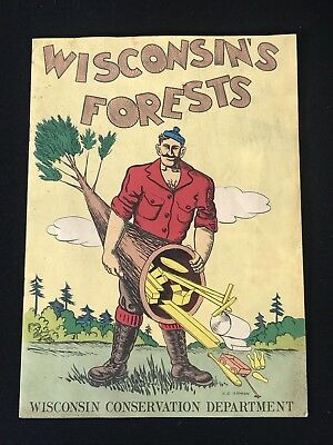 Vintage Wisconsin's Forests Comic Book Child's Comic Book WI Conservation Dept