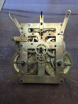 Strike Antique Clock Mov't. Parts Or Rebuild. Runs And Strikes Well