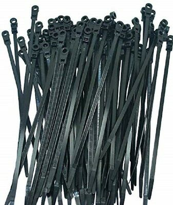 "7"" Cable Ties With Mounting Hole 100ct. Perfect Vision CT7BLK-MH Fast Shipping!!"