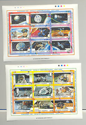 Sierra Leone #1069-1074 History of Space Exploration, Apollo 6v. imperf M/S of 9
