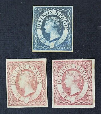 CKStamps: Ionian Islands Stamps Collection Scott#2 3 Unused NG