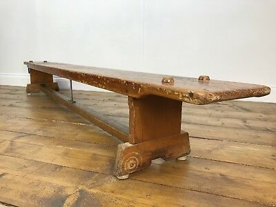 Stunning Antique School Bench - Vintage Retro Plant Stand Chair Console Table