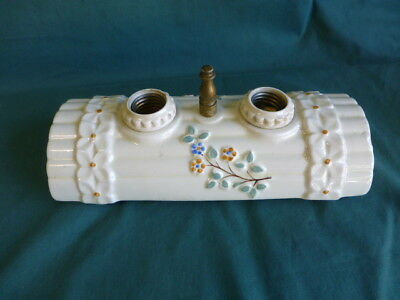 Vintage Early to Mid 1900's Surface Mounted Ceiling Porcelain Light Fixture