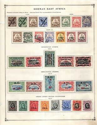German E Afr & Thurn & Taxis  Collection from Full Scott Intern 1840-1940 Album