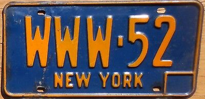 1966 New York License Plate Number WWW Tag - $2.99 Start