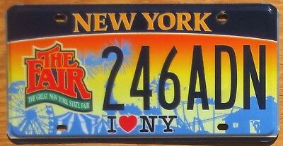 New York Specialty License Plate Number Tag – Great N.Y. State Fair