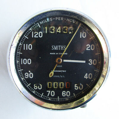 Smiths Chronometric Motorcycle Speedometer S525/3/l Bsa Gold Star Triumph Norton