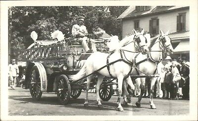 Lakewood NJ Fire Engine Parade Photo Photograph - Printed c1950s?