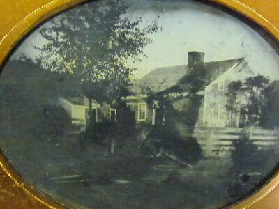 victorian home and yard 1/2 plate ambrotype photograph