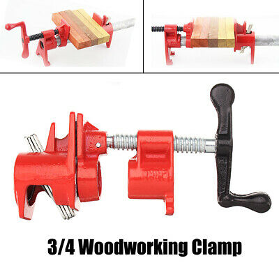 """4pc 3/4"""" Wood Gluing Pipe Clamp Set Heavy Duty PRO Woodworking Cast Iron Set USA"""
